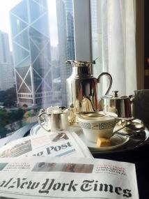Tea time at Mandarin Oriental Hong Kong