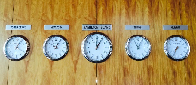 Hamilton Island wall clock at quaila